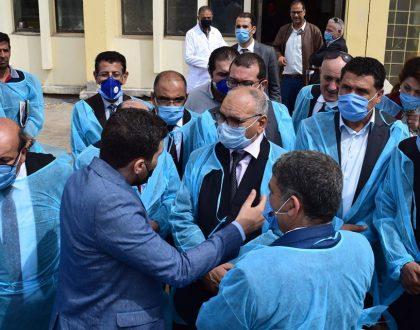 النائب محمد القوماني  يرافق السيد وزير التجارة محمد المسيليني خلال زيارته الى ولاية باجة.