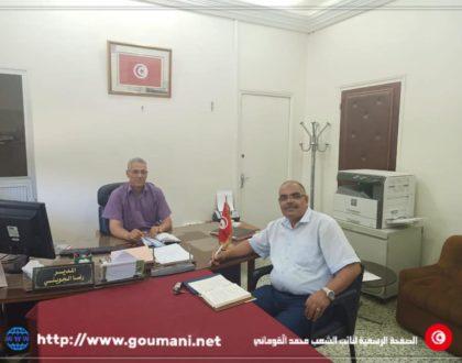 النائب محمد القوماني في زيارة إلى  المستشفى الجهوي بمجاز الباب، الخميس 11 جوان 2020.